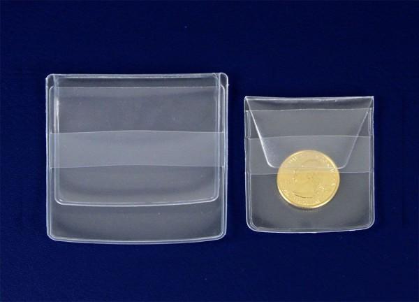 Sachets individuels pour monnaies 65 x 65 mm