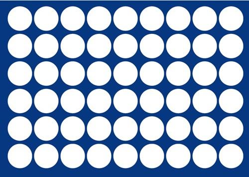 Plateau pour 54 pièces de 29,5 mm de diamètre
