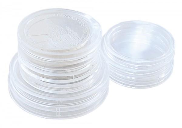 Boîtes de 25 capsules pour monnaies 14 à 35 mm