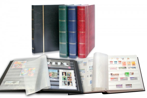 Classeur pour timbres, 64 pages fond blanc