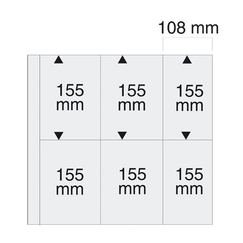 Feuilles cartes postales modernes verticales 6021-6020-6044