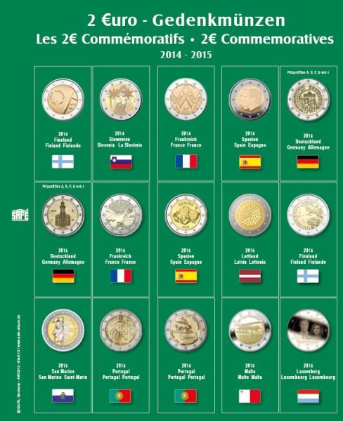 """Feuille """"Premium"""" 2 € - 2014-2015"""