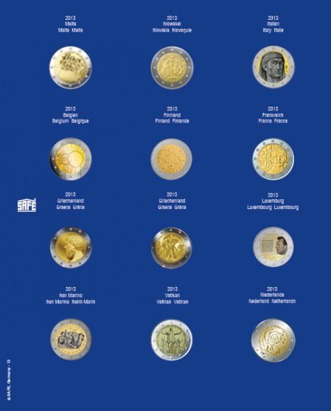 Feuilles TOPset pour 2 € sous capsules 2012-2018