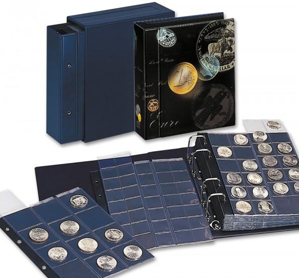 """Album """"Coin-Compact"""" standard bleu"""