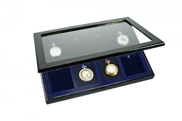 Vitrine en bois pour 8 montres de gousset