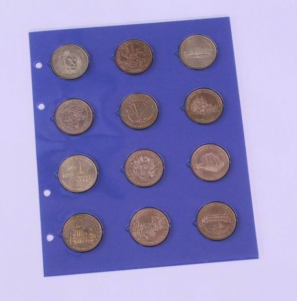 Feuille pour 12 Médailles-Souvenir
