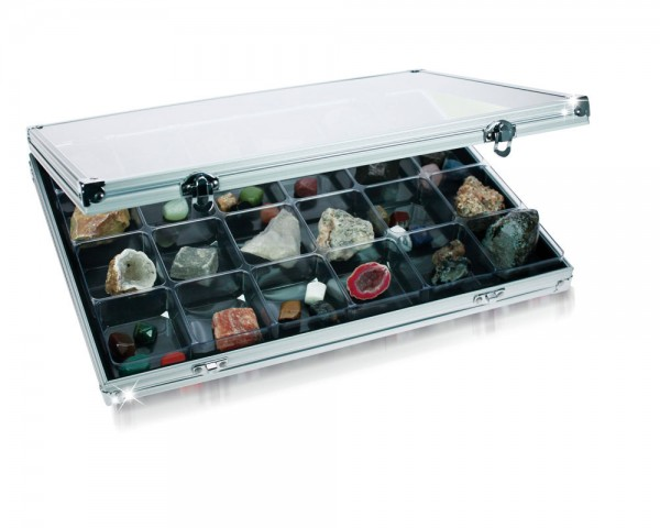 """Vitrines """"alu"""" pour collections"""