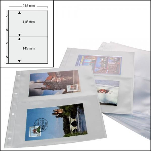 Feuilles à 2 poches pour cartes postales 5477