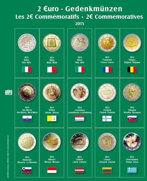 """Feuille """"Premium"""" 2 € - 2015"""