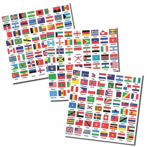 Autocollants drapeaux