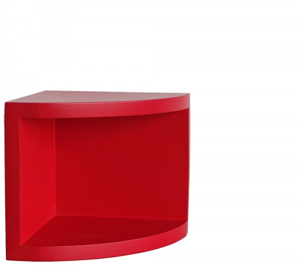 "Etagère d'angle ""Syno"" Rouge"