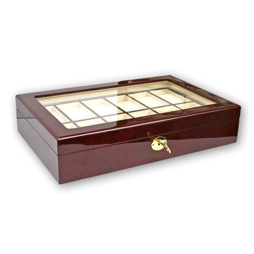 Coffret-vitrine en bois pour montres