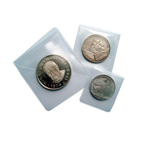 Sachets individuels pour monnaies 50 x 50 mm