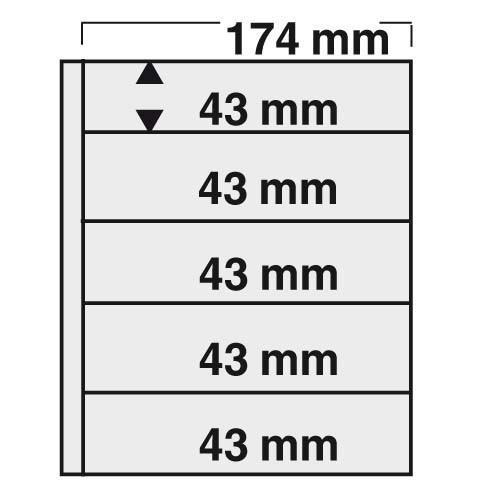 "Feuilles ""Compact"" pour timbres 7879"