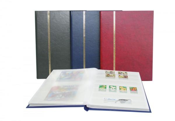 Classeur pour timbres, 16 pages fond blanc