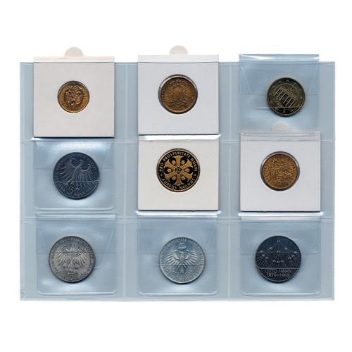 Cartes pour monnaies sous étui