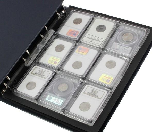Feuille pour 9 monnaies sous Slabs