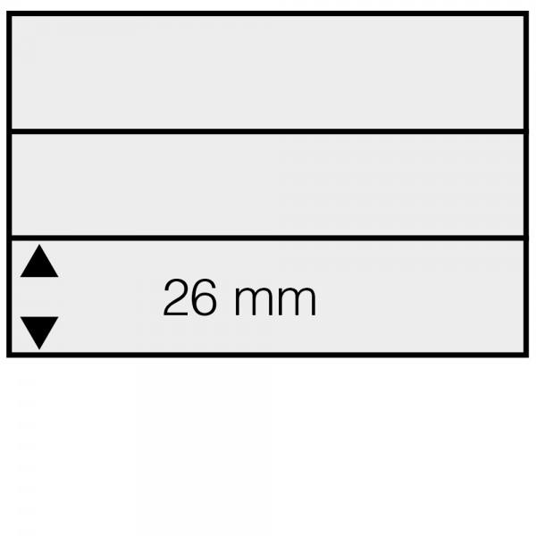 Cartes 158 x 112 mm à 3 bandes